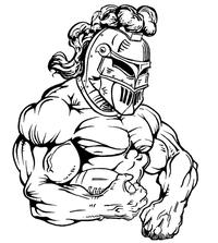 Football Knights Mascot Decal / Sticker 4