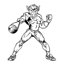 Baseball Buffalo Mascot Decal / Sticker ba6