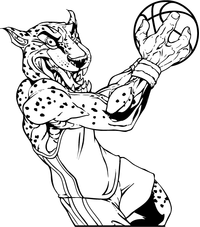 Cheetahs Basketball Mascot Decal / Sticker
