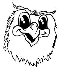 Owls Mascot Decal / Sticker 1
