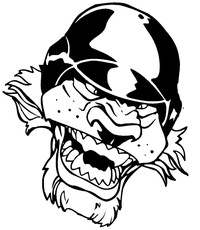Lion Baseball Mascot Decal / Sticker