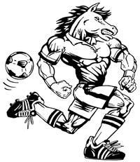 Soccer Horse Mascot Decal / Sticker 5