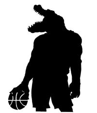 Basketball Gators Mascot Decal / Sticker 3