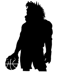 Basketball Horse Mascot Decal / Sticker 2 ^This white rectangle is NOT part of the decal^