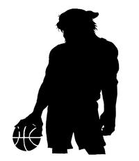 Basketball Leopards Mascot Decal / Sticker 2