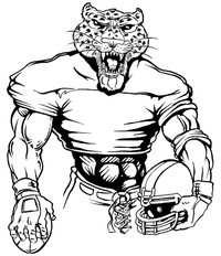 Football Leopards Mascot Decal / Sticker 5