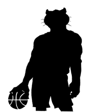 Basketball Cougars / Panthers Mascot Decal / Sticker 2