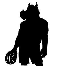 Basketball Razorbacks Mascots Decal / Sticker 2