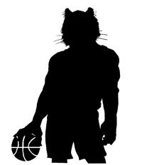Basketball Tigers Mascot Decal / Sticker 2