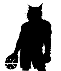 Basketball Wildcats Mascot Decal / Sticker 1