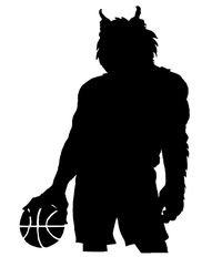 Basketball Wolves Mascot Decal / Sticker 2