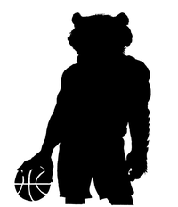 Basketball Wolverines / Badgers Mascot Decal / Sticker 2
