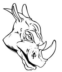 Rhinos Head Decal / Sticker
