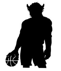 Basketball Buffalo Mascot Decal / Sticker bk3