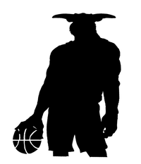 Basketball Bull Mascot Decal / Sticker 3
