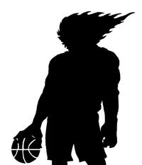 Basketball Comets Mascot Decal / Sticker 3