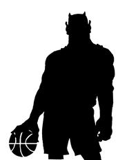 Basketball Devils Mascot Decal / Sticker 1