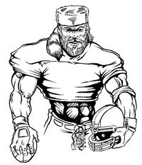Football Frontiersman Mascot Decal / Sticker 4