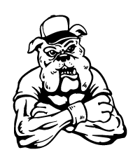 Baseball Bulldog Mascot Decal / Sticker