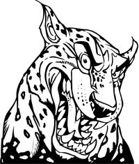 Cheetah Head Mascot Decal / Sticker