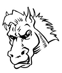 Horse Mascot Head Decal / Sticker 5