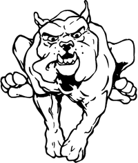 Running Bulldog Mascot Decal / Sticker
