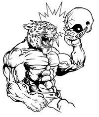 Football Leopards Mascot Decal / Sticker 7