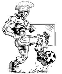 Soccer Paladins / Warriors Mascot Decal / Sticker 2