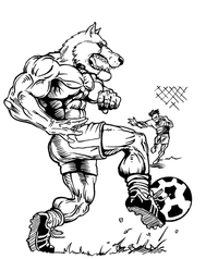 Soccer Wolves Mascot Decal / Sticker 2