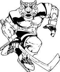 Cheetahs Hockey Mascot Decal / Sticker