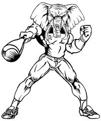 Baseball Elephants Mascot Decal / Sticker 5