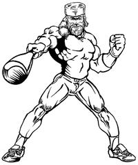 Baseball Frontiersman Mascot Decal / Sticker 5
