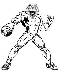 Baseball Gators Mascot Decal / Sticker 5
