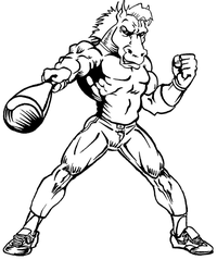 Baseball Horse Mascot Decal / Sticker 5 ^This white rectangle is NOT part of the decal^