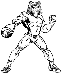 Baseball Tigers Mascot Decal / Sticker 3