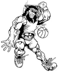 Basketball Pirates Mascot Decal / Sticker 2
