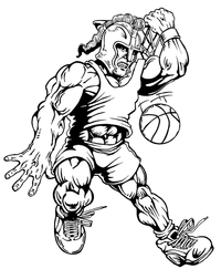 Basketball Paladins / Warriors Mascot Decal / Sticker 3
