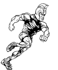 Track and Field Paladins / Warriors Mascot Decal / Sticker 2