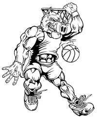 Basketball Razorbacks Mascots Decal / Sticker 3