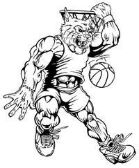Basketball Wildcats Mascot Decal / Sticker 2