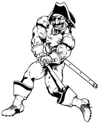 Pirates Baseball Mascot Decal / Sticker