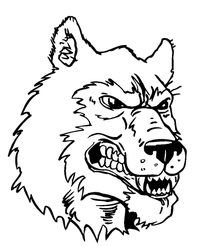 Huskies Mascot Decal / Sticker 4