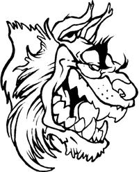 Bobcat Head Mascot Decal / Sticker