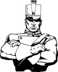 Cadets Mascot Decal / Sticker