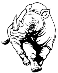 Rhinos Mascot Decal / Sticker