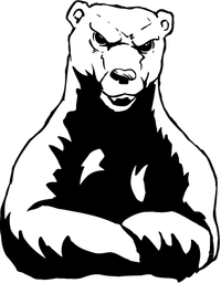 Angry Bear Mascot Decal / Sticker