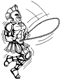 Paladins / Warriors Misc Mascot Decal / Sticker 2