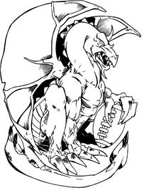 Football Dragons Mascot Decal / Sticker
