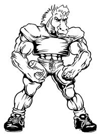 Football Horse Mascot Decal / Sticker 6