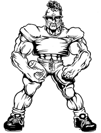 Football Paladins / Warriors Mascot Decal / Sticker 3
